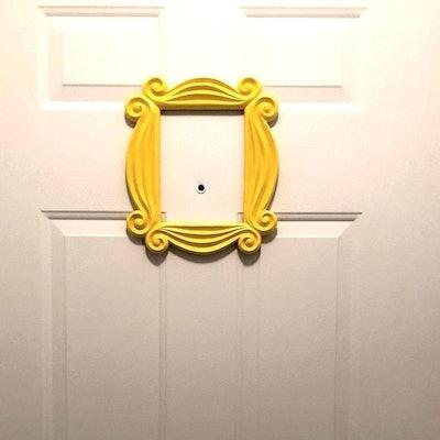 Friends Frame Yellow Peephole Door Prop