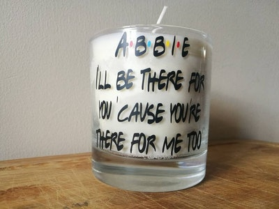 Personalised Friends Inspired Candle