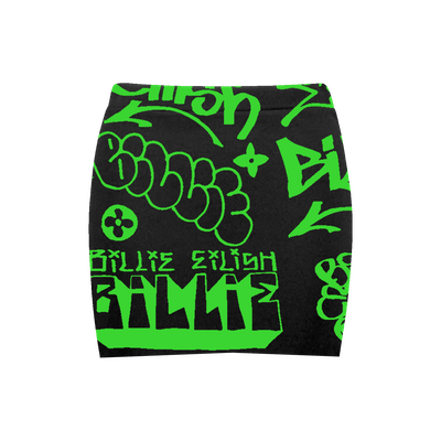 Billie Eilish x Freak City Green Skirt