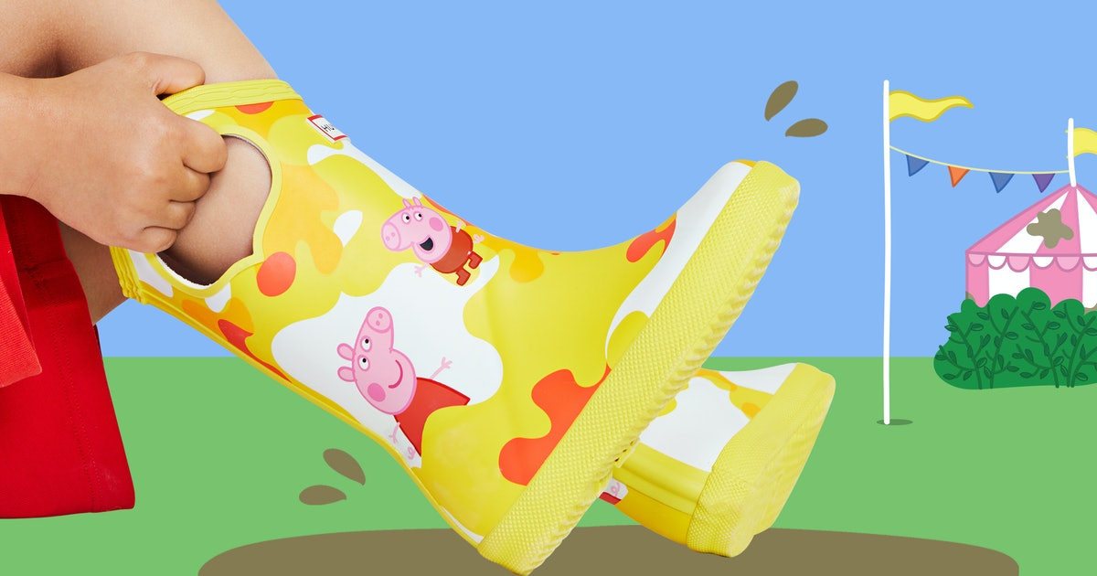 Hunter's 'Peppa Pig' Rain Boots, Umbrellas, & Backpacks Will Make Your Kid Snort With Glee