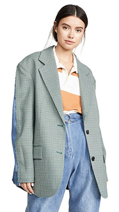 Shirt Back Check Jacket