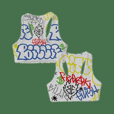 Billie Eilish x Freak City Grafitti Sports Bra
