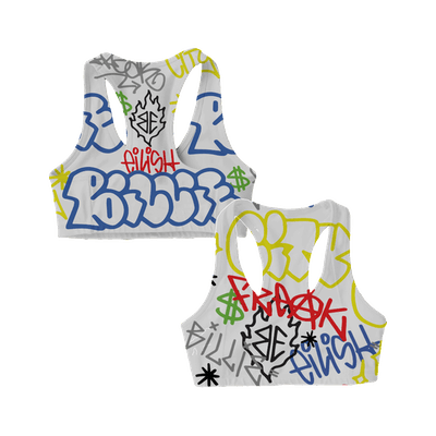 Billie Eilish x Freak City Grafitti Sports Bra