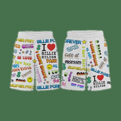 Billie Eilish x Freak City Super Fan All Over Print Shorts
