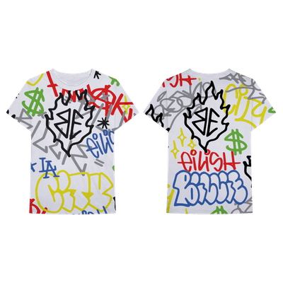 Billie Eilish x Freak City Graffiti All Over Print Tee