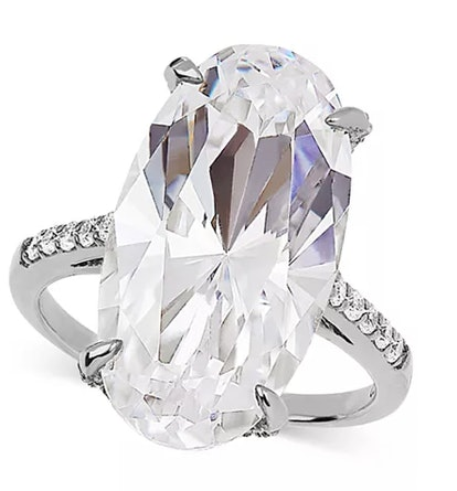 Swarovski Zirconia Statement Ring in Sterling Silver