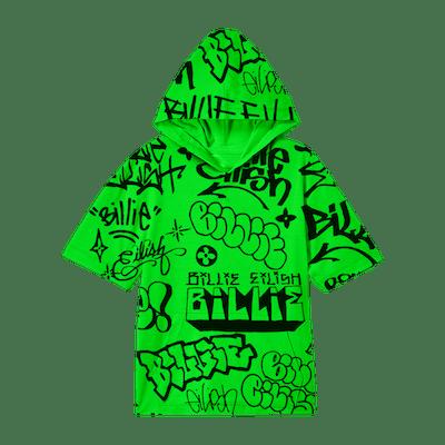 Billie Eilish x Freak City Green Hoodie