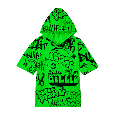 Billie Eilish x Freak City Green Hoodie