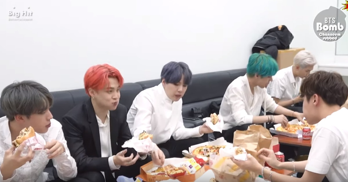 This Video Of BTS' Backstage Pizza Party Will Give You Major FOMO