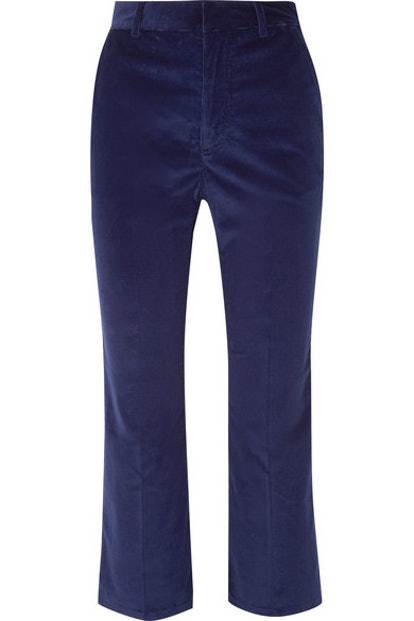 Adler Cropped Cotton-BLend Corduroy Straight-Leg Pants
