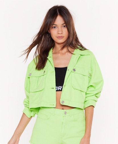 On Crop Of The Game Utility Jacket