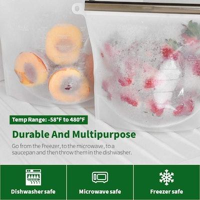 Nuku Reusable Food Storage Bags (Set Of 4)