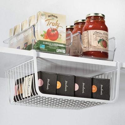 mDesign Under Shelf Hanging Basket