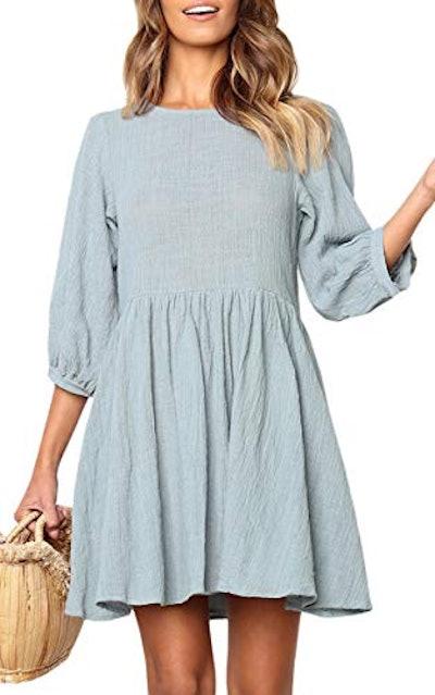 ECOWISH Linen Mini Dress
