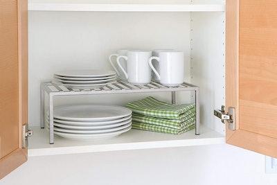 Seville Classics Iron Slat Expandable Counter and Cabinet Shelf
