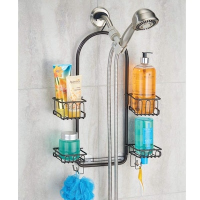 mDesign Modern Metal Bath and Shower Caddy