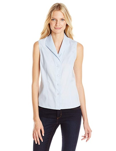 Calvin Klein Sleeveless Button-Down Shirt