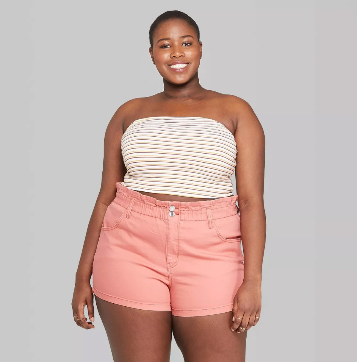 Women's Plus Size Striped Tube Top - Wild Fable