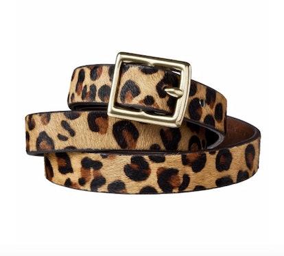 A New Day Leopard Print Calf Hair Belt