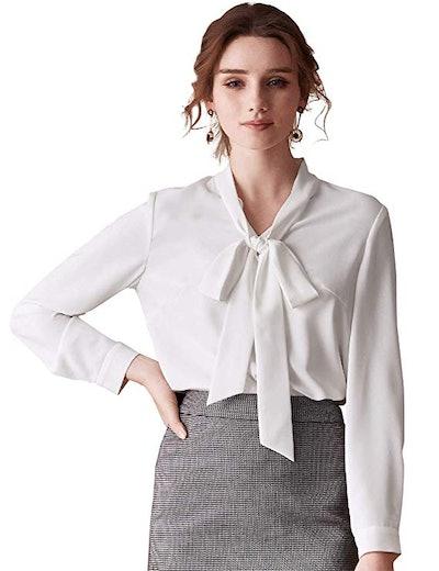 ROEYSHOUSE Chiffon Button-Down Shirt