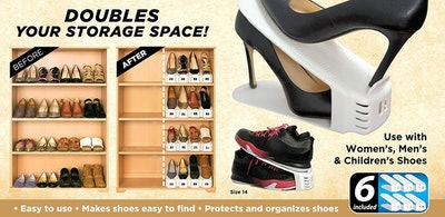 Shoe Slotz Space Savers (Set Of 6)