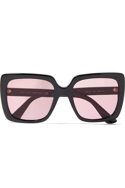 Oversized Crystal-Embellished Sunglasses