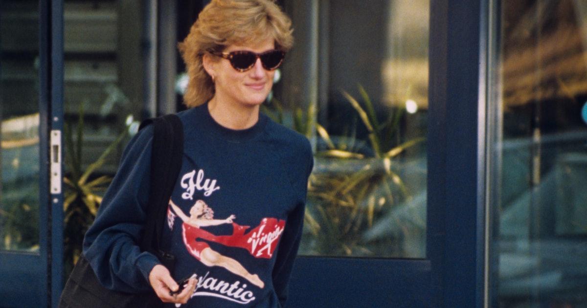 Princess Diana's Virgin Atlantic Workout Sweatshirt Is Now Up For Sale