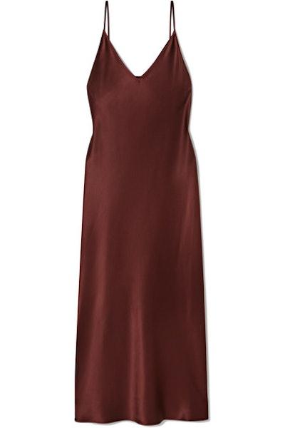 Clea Silk-Satin Midi Dress