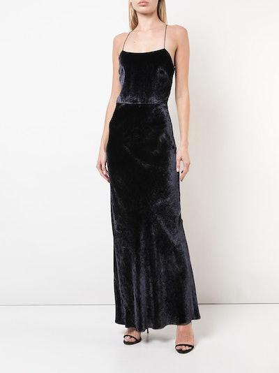 Shine Velvet Slip Dress