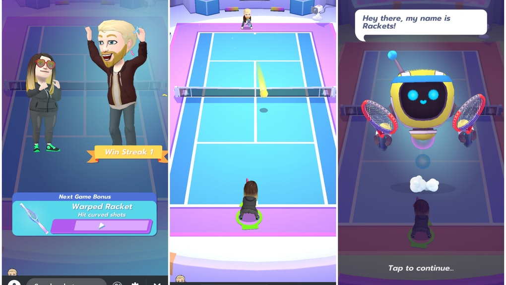 Snapchat's new 'Bitmoji Tennis' game doesn't live up to the