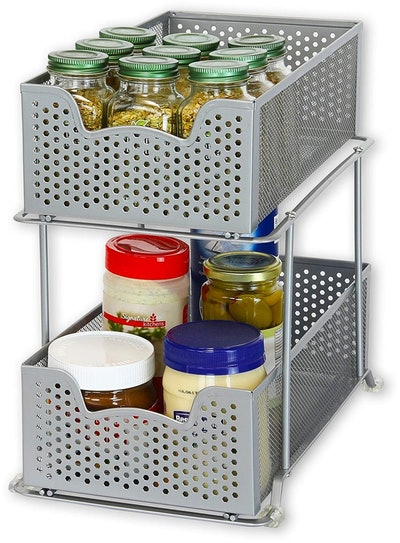 Simple Houseware 2 Tier Sliding Basket Organizer