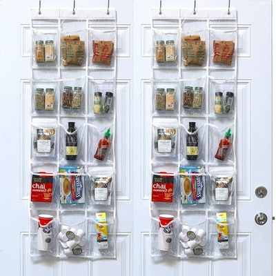 SimpleHouseware Crystal Clear Over The Door Hanging Organizer (2 Pack)