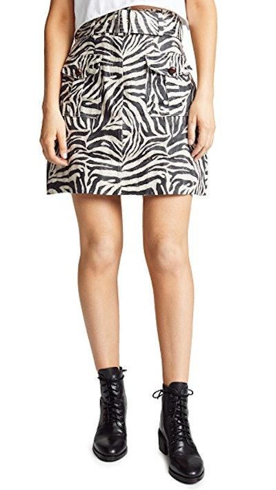 Corsage Safari Miniskirt