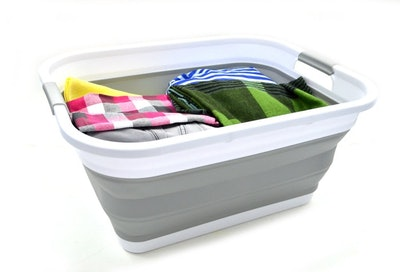 SAMMART Collapsible Plastic Tub