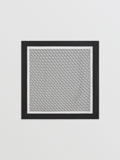 Monogram Print Silk Square Scarf