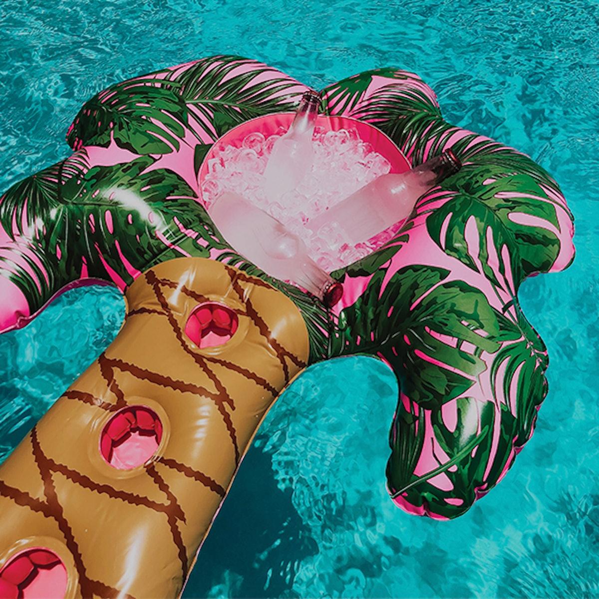 Neon Palm Drink Holder