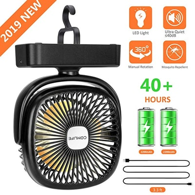 COMLIFE Portable LED Camping Lantern With Tent Ceiling Fan