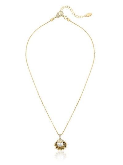 Pavé Shell Pendant Necklace