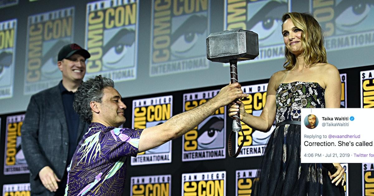"Natalie Portman's Thor Isn't Named ""Female Thor,"" According To Director Taika Waititi"