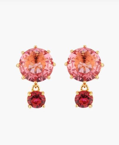 La Diamantine Multicolored Stud Earrings