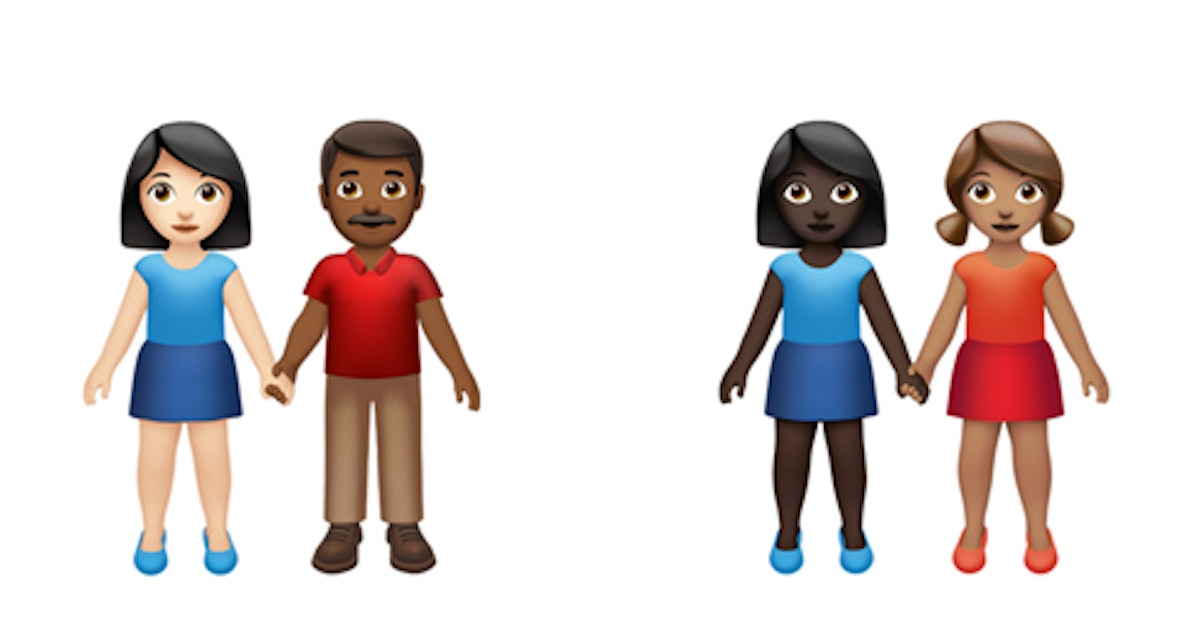 Different Skin Tone Emoji For Couples Are Coming To Your iPhone So Soon & Hallelujah