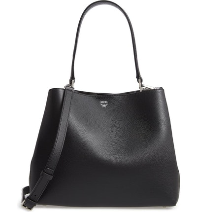 MCM Sarah Leather & Visetos Canvas Hobo