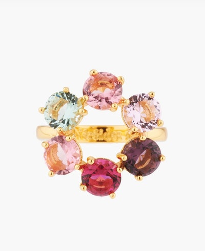 La Diamantine Multicoloured Thin Ring