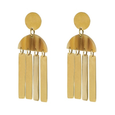 Maxi Horn Cala Earrings