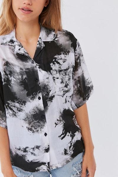Tie-Dye Button-Down Shirt