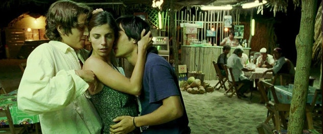 A sultry threesome is pictured here in this still from Y Tu Mamá También.