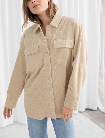 Oversized Corduroy Workwear Shirt