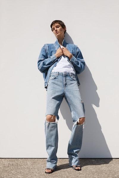 ZW Premium Straight Jeans In Misty Blue