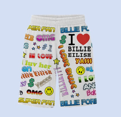 BILLIE EILISH X FREAK CITY SUPER FAN ALL OVER PRINT SHORTS + DIGITAL ALBUM