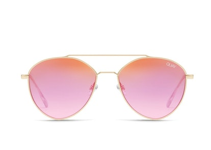 Dragonfly Sunglasses in MatteGld/Pink